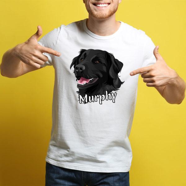 Porträt auf einem T-Shirt